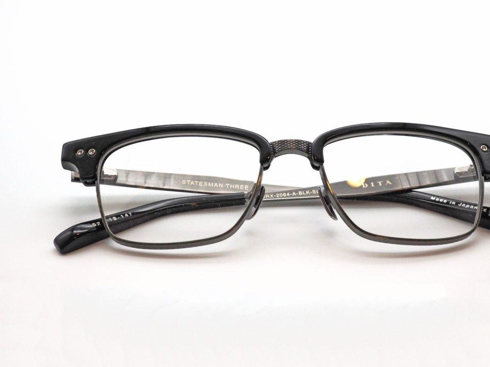 DITA, STATESMAN DRX-2064-A-BLK-SLV-52 眼鏡工房久保田
