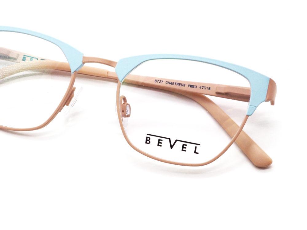 BEVEL, 8727 CHARTREUX col. POWDER BLUE/SANDSTONE 眼鏡工房久保田